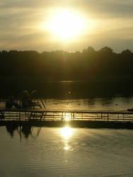 Sun in the lake by Plecha