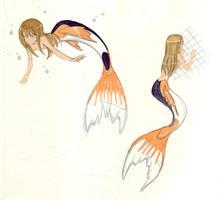 Dannie- koi mermaid by deadrabbit