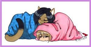 Sisterly Snugglings by deadrabbit