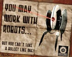Portal 2 Turret Poster Ad by HidaKuma