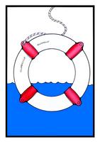 Life ring card by wheelgenius