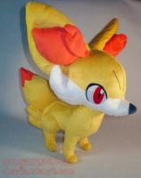 Pokemon: Fennekin Plush by sugarstitch