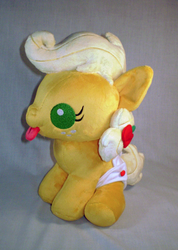 MLP FiM: Baby Applejack Plush by sugarstitch
