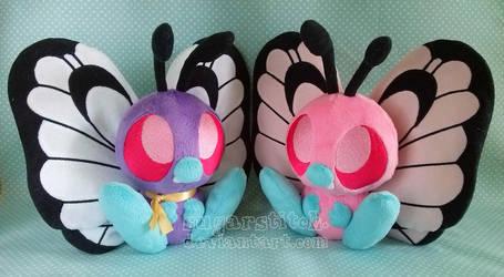 Pokemon: Butterfree Pair by sugarstitch