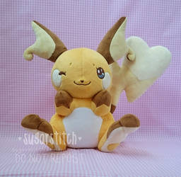 Pokemon: OOAK Sweet Raichu by sugarstitch