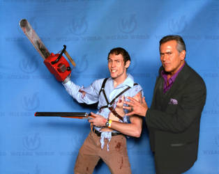 Ash meets Bruce Campbell by adambomb7