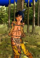Little Warrior In Trouble by kiowah
