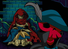Grieving the past... - Shovel Knight by KingShovelton