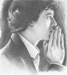 Sherlock thinking by livia-carica