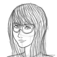 A Girl with Glasses by FikryFadhillah