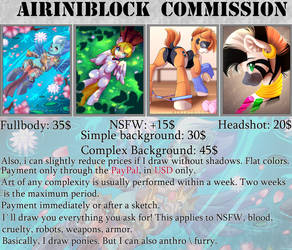 AiriniBlock Commission Sheet: 2018 \\OPEN\\ by AiriniBlock