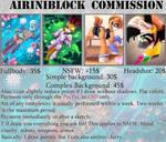 AiriniBlock Commission Sheet: 2018 \\OPEN\\ by AiriniBlock