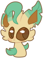 Leafeon Sticker by qhostts