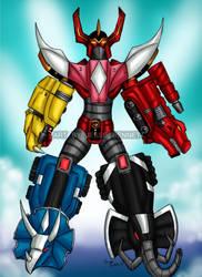 Mighty Morphin Megazord (Sentai Guardian) by blueliberty