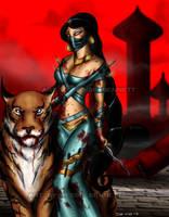 Princess Jasmine Mortal Kombat style by blueliberty