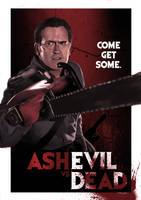 Ash vs. Evil Dead by ChristopherOwenArt