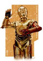 C-3PO by ChristopherOwenArt