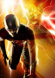 The Flash by ChristopherOwenArt