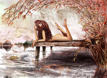 Listen to the cry of the river in autumn cold by SallyBJD
