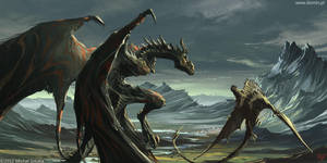 Dragons duel by pusiaty