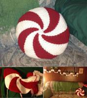 Peppermint Pillow by gabiemiller
