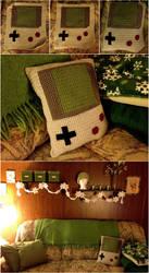 Gameboy Pillow by gabiemiller