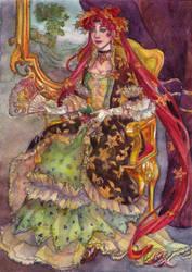 Chibi-chibi  dressed like an autumn princess by Teitaro