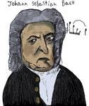 Johann Sebastian Bach by Mikiel