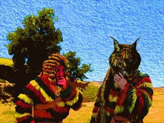 Lynx masked people by Mikiel