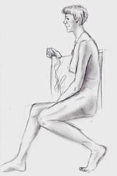 Life Drawing 3 by MZandraMayhugh