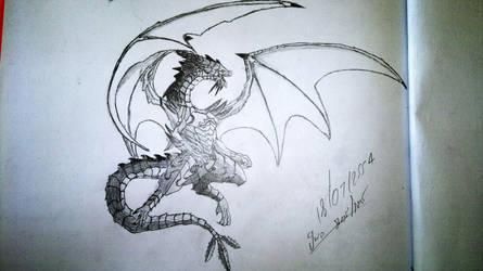 Anthro Dragon - Niltincoionus by taoybb
