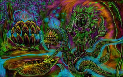Cyber octopus by grebenru