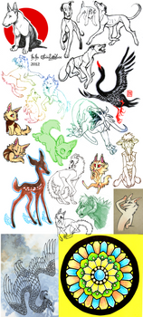 Sketch Dump 5 by CanisAlbus