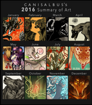 2016 Summary of Art by CanisAlbus