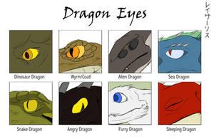 Draw  -  Dragon Eyes by SylxeriaGuardian