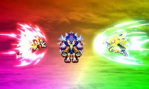 Sonic and Shadow VS Izanagi Poster by JaseTheHedgehog16