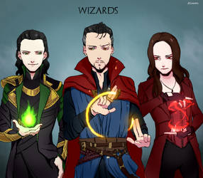 Marvel Wizards by Alloween