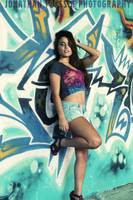 graffiti chick by vvmasterdrfan