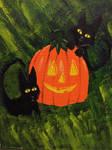Halloween Meows by KaterineHowardRose