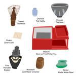 Geisha Hands Illustration - Tea Ceremony Tools 1 by KaterineHowardRose