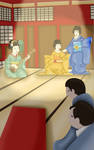 Geisha Hands Illustration - Yukie at the Tea House by KaterineHowardRose