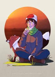 Kitsune and the Umegae Mochi by naoxy