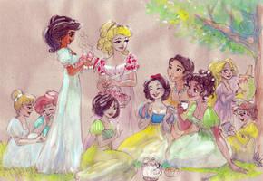 Regency princess picnic by TaijaVigilia
