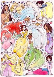 Condensed princesses -part I by TaijaVigilia