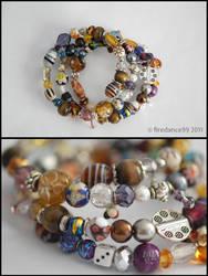 Memory wire bracelet by firedance99