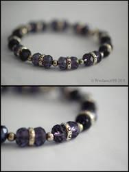 Memory wire tanzanite bracelet by firedance99