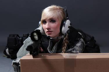 Female Sniper STOCK VII by PhelanDavion