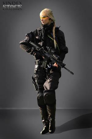 Female Universal Soldier STOCK II by PhelanDavion