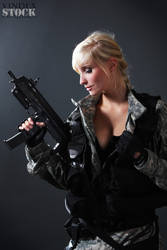 Female Soldier STOCK III by PhelanDavion