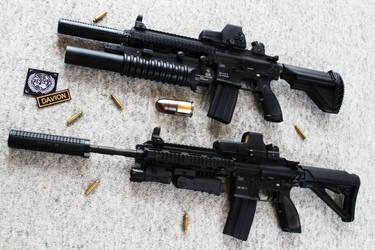 HK416 - Heckler+Koch Rifle STOCK II by PhelanDavion